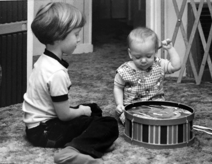 Chris and Andrew as kids